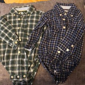 2 Carter's long sleeve body suits